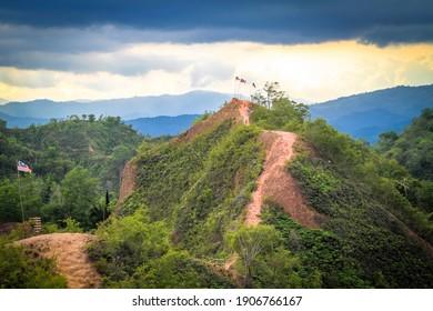 Trig Hill the view of Apin-apin Keningau