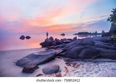 "Trikora Beach, Bintan Island, Indoensia, October 2017: ""Beautiful Sunrise at Bintan Island"""