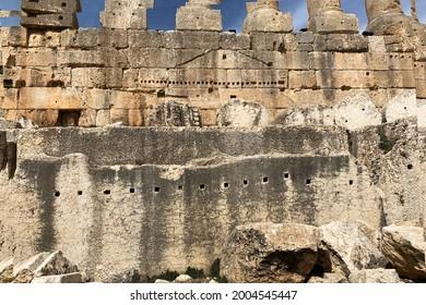 Trilithon, stouns at Jupiter Temple in Baalbek, Lebanon