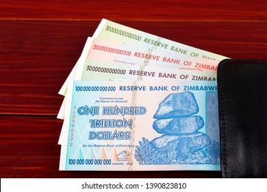 Trillion dollars from Zimbabwe, in the black wallet