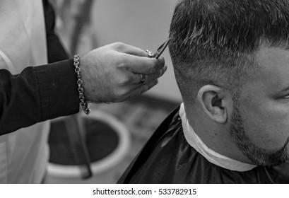Triming,shaving or barber show.