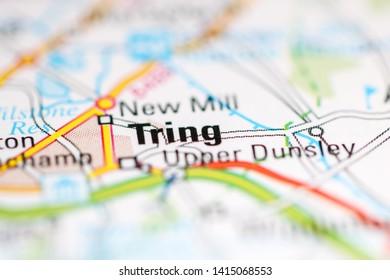 Tring. United Kingdom on a geography map