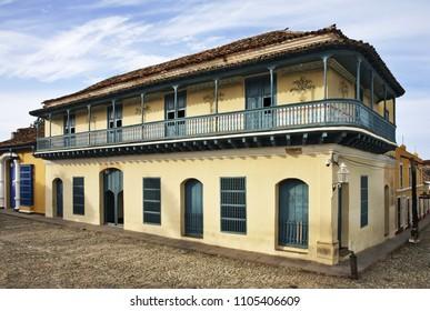 TRINIDAD. CUBA. 12 APRIL 2014 : Casa de Aldeman Ortis in Trinidad. Cuba