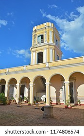 TRINIDAD, CUBA - FEBRUARY 20, 2018 -Palacio Cantero, with the watchtower, housing the municipal history museum (museo de historia municipal)