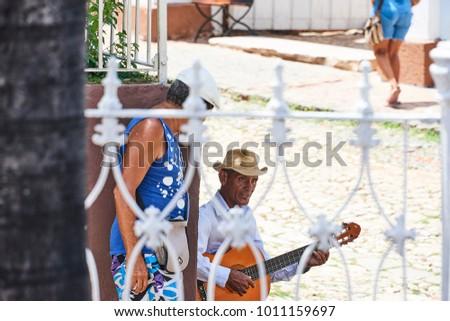 Trinidad Cuba JUL 26 2017 Man Stock Photo (Edit Now) 1011159697 ... c0cae1f61d6b