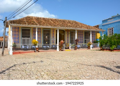 TRINIDAD, CUBA - JULY 25, 2016: El Jigue Restaurant. A Colonial-style restaurant in a quiet square near the town center.