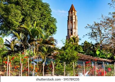 Trinidad, Cuba: Manaca Iznaga tower in Valle de los Ingenios valley