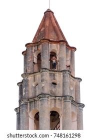 TRINIDAD, CUBA - MAY 16, 2017: View of the tower of Manaki Isnagi. Close-up