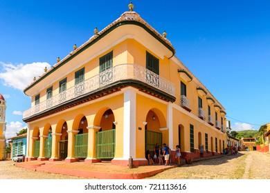 TRINIDAD, CUBA - SEP 7, 2017: Architecture of Trinidad, Cuba. UNESCO World Heritage