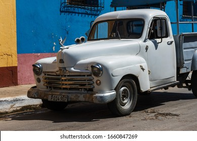 Trinidad, Cuba-Feb.18, 2020: Cubans and tourists are in the streets of Trinidad.It is one of the most tourist attractive region in Cuba with its old colorful houses and neighborhood.