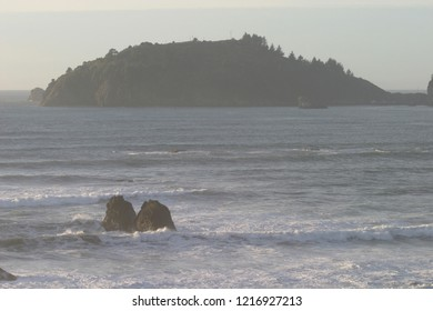 Trinidad Head and Trinidad Bay, facing south, Trinidad, California, USA