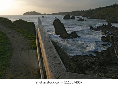 Trinidad Head and Trinidad Bay, Tepona Point,, Luffenholtz Beach County Park, California, USA