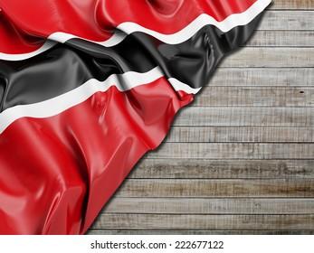 Trinidad and Tobago Flag with horizontal wood