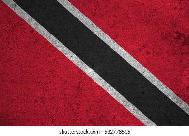 Trinidad and Tobago flag on an old grunge background