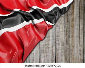 Trinidad and Tobago Flag with vertical wood