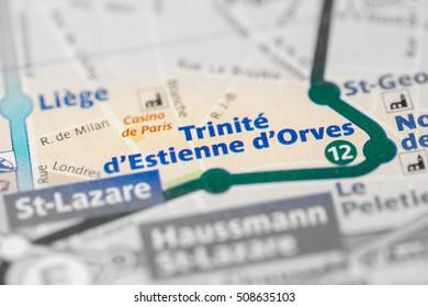 Trinite d'Estienne d'Orves Station. 12th Line. Paris. France