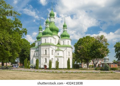 Trinity Cathedral, (17th century). Gustynsky Monastery in Chernihiv region. Ukraine
