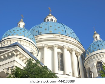 Trinity Izmailovo Cathedral (Cathedral of the Holy Trinity), St. Petersburg, Russia