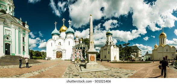 Trinity Lavra of St. Sergius is the most important Russian monastery and the spiritual centre of the Russian Orthodox Church. Sergiev Posad, Moscow region, Russia.