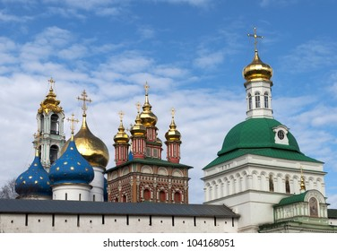 The Trinity monastery in Sergiev Posad near Moscow (the most important monastery and spiritual centre of the Russian Orthodox Church)