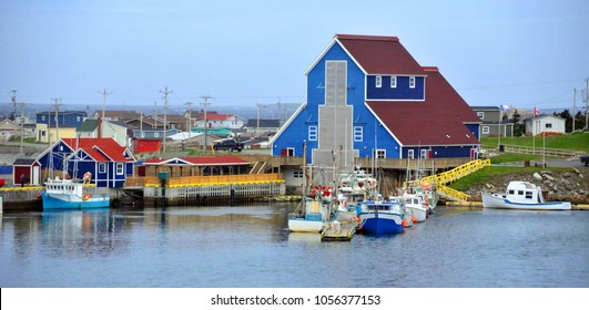 TRINITY NEWFOUNDLAND JUNE 12: Typical fisherman village on june 12 2014 in Trinity Newfoundland. The town contains a number of buildings recognized as Registered Heritage Structures by the province.