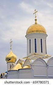 Trinity Sergius Lavra in Sergiyev posad, Russia. Popular landmark. UNESCO world heritage stie.