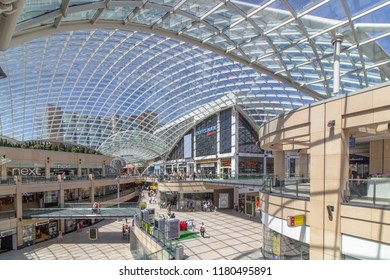 TRINITY SHOPPING CENTRE, LEEDS CITY CENTRE, 24 JUNE 2018 - with a spectacularly glass roof