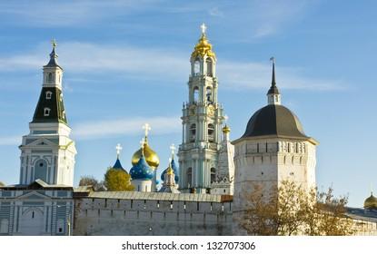 Trinity-Sergey lavra monastery in town Sergiev Posad in Moscow region, Russia.
