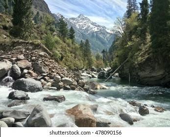 A trip to barsani, himachal pradesh, india. The snow mountain