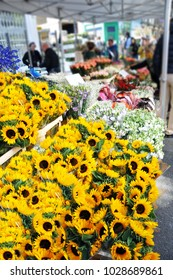 Trip to London - Columbia Road Flower Market is a must. Sunflowers in the foreground.