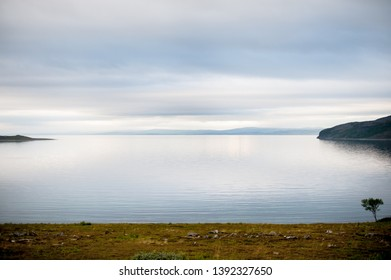 Trip to Nordkapp, a view to a fjord on the evening