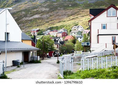 trip to nordkapp, view to a town