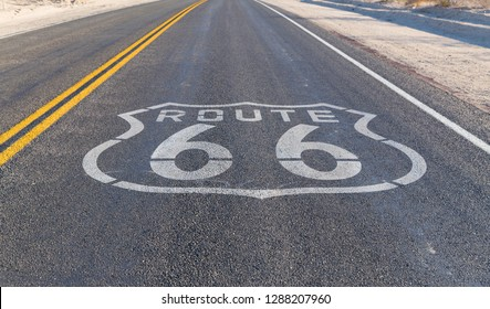 trip, travel and drive concept - route 66 asphalt road in united states of america - Shutterstock ID 1288207960