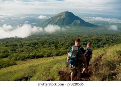 Trip to volcan El Hoyo and view to volcan Asososca, Nicaragua
