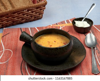 Tripe soup (Romanian: Ciorba de Burta) is a traditional Romanian sour soup made with beef tripe (cow's stomach), garlic, sour cream and vinegar. It is considered to be a hangover remedy.