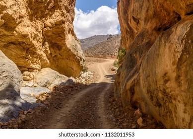 Tripiti Gorge in Crete Island