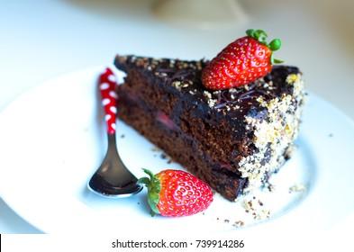 Triple chocolate cake Home made food