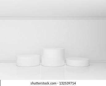 triple pedestal in the interior
