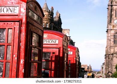 Triple Phonebooth, Edinburgh, Royal Mile