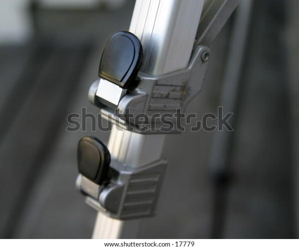 A tripod close up.