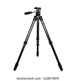 The tripod. Isolated on white background