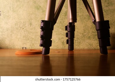 Tripod on the table as a technical break - Shutterstock ID 1757125766