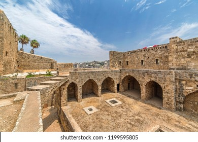 Tripoli Historical Citadel, Lebanon - August 05, 2015: A view for the Citadel of Tripoli (Raymond de Saint-Gilles) and the old City.
