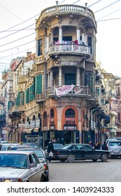 Tripoli, Lebanon - January 15, 2016: Street life in downtown Tripoli, Lebanon Middle East
