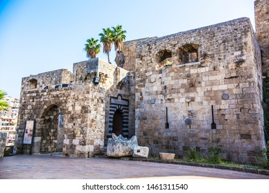TRIPOLI, LEBANON - October 2018: Tripoli old city citadel, Walls of The Citadel of Raymond de Saint-Gilles, also known as Qala'at Sanjil, Lebanon