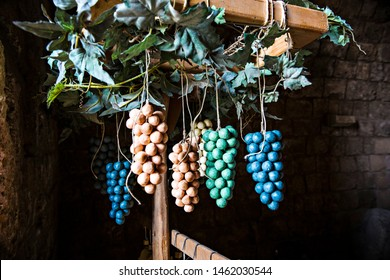 TRIPOLI, LEBANON - October 2018: Traditional Tripoli handmade soap in the form of grapes on the market in Tripoli, Lebanon