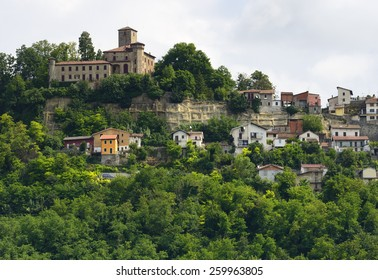 Trisobbio (Alessandria, Piedmont, Italy), panoramic view of the old town in Monferrato