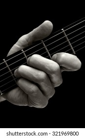 The Tristan chord played on higher four strings of electric guitar