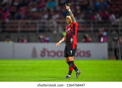 Tristan Do of Bangkok United in action during The Football Thai League between Bangkok United and SCG Muangthong United at True Stadium on March 02,2019 in Pathum Thani, Thailand