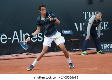 Tristan Lamasine (FRA) during the Open Parc Auvergne-Rhone-Alpes Lyon 2019, ATP 250 Tennis tournament on May 22, 2019 at Parc de la Tete d'Or in Lyon, France